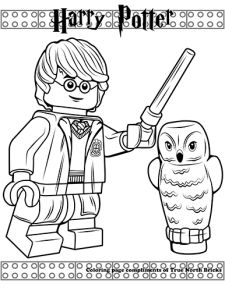 Coloring Page Harry Potter Harry Potter Coloring Pages Lego