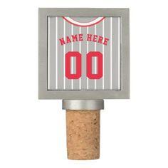 Baseball Softball Jersey Template Wine Stopper - home decor design art diy cyo custom
