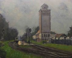 Station Wehl. Wehl, Holland., painting by artist Rene PleinAir
