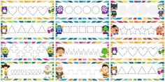 mx wp-content uploads 2016 09 v_Gramotricidad. Letter Tracing Worksheets, Printable Alphabet Letters, Tracing Letters, Scissor Skills, Small Letters, Pre Writing, Recycled Crafts, Occupational Therapy, Preschool