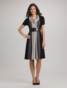 A cute dress for church or work for the fall season! :) Ribbed ...