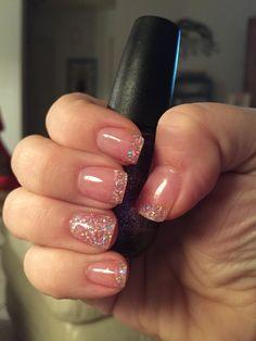 Glitter solar nails