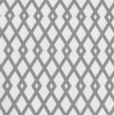 """Graphic Fret, GreystoneDwell Studio and their Eclectic Modern collection in beautiful 100% cotton prints in a charcoal grey with white and black contrast lines. Horizontal pattern repeat is 2.75"""" x 4.50"""" vertical repeat. Fabric is medium weight duck with a slubbed, linen-like look. Perfect for drapery, roman blinds, pillows, upholstery, accessories & other home decor items. Dry cleaning recommended"""