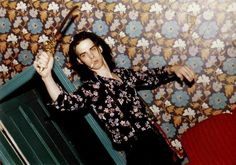 Nick Cave in Kreutzburg Germany by Sylvie Kuhn 'Sylvie told me Nick was fending off a parrot who had taken a dislike to him'