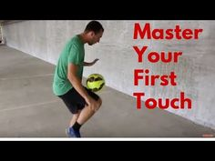 Easy Soccer Drill To Improve Your First Touch and Control. In today's video Coach Ben breaks down an easy soccer drill to help improve your first touch on th. Soccer Drills For Kids, Soccer Practice, Soccer Skills, Soccer Tips, Soccer Games, Football Drills, Soccer Stuff, Tennis Tips, Soccer Coaching