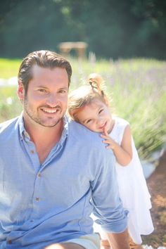 Daddy Daughter Lavender Farm Photos