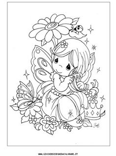 coloring page Precious moments on Kids-n-Fun. Coloring pages of Precious moments on Kids-n-Fun. More than coloring pages. At Kids-n-Fun you will always find the nicest coloring pages first! Fairy Coloring Pages, Adult Coloring Pages, Coloring Sheets, Coloring Books, Cartoon Coloring Pages, Paper Embroidery, Embroidery Patterns, Free Coloring, Coloring Pages For Kids
