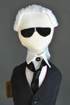 VINNY DOLLS |contemporary dolls handmade in Dubai| Karl Lagerfeld doll