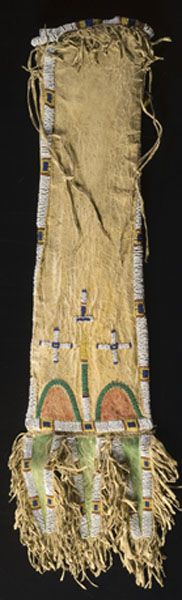 Sioux Beaded Hide Tobacco Bag, (2007, American Indian and Western Art, Sept 15)