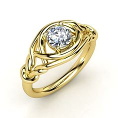 The Basira Ring #customizable #jewelry #diamond #gold #ring