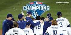 Champions of the NL West Division!