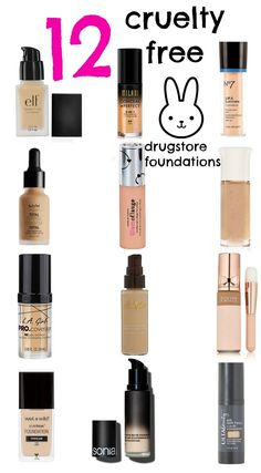 12 CRUELTY FREE DRUGSTORE FOUNDATIONS UNDER $20!