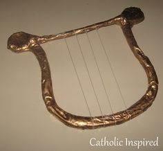 St. Cecilia Costume and Homemade Harp ~ Catholic Inspired