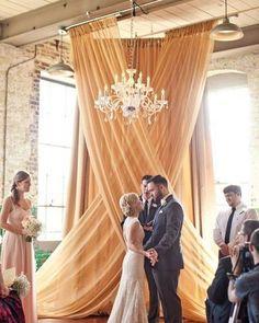 Decoração | Use cortinas à seu favor para decorar não só o ambiente da recepção…