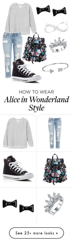 """""""I just love this outfut"""" by watermeloone on Polyvore featuring RVCA, Converse, Disney, Marc by Marc Jacobs and Bling Jewelry"""