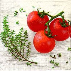 0958 Servilleta decorada vegetales