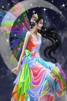 fairie the color of rainbows   Rainbow Fairy Live Wallpaper for Android