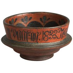 Finely Turned and Decorated Ceremonial Ale Bowl | From a unique collection of antique and modern bowls at https://www.1stdibs.com/furniture/dining-entertaining/bowls/