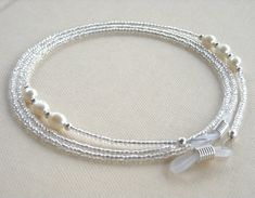 Pearl Eyeglass Chain Rice Pearls Beaded Eyeglass by HalfSnow, $27.00