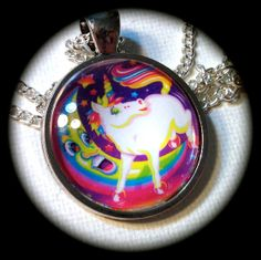 UNICORN & MOON . Glass Pendant Necklace . LISA by girlgamegeek, $11.11