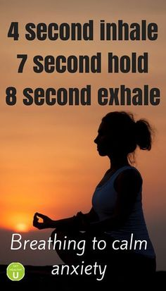 simple relaxation technical : 4 second Inhale,7second Hold,8Second Exhale - Repin and share if you enjoyed