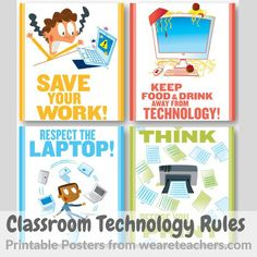 8 Classroom Technology Rules and Etiquette Posters | TeachwithTech Blog