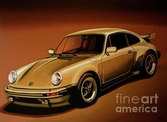 Realistic acrylic painting of the Porsche 911, painted by the Dutch fine artist Paul Meijering - the Original painting is 120 x 90 cm and for sale