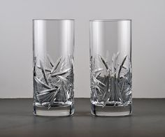 Bohemian Crystal Harmony Pinwheel Highball Glasses by TheRealmCollectibles, $35.99