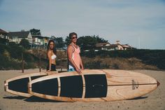 His and hers Lightweight wood SUPs handcrafted by Jarvis Boards (Guadalupe Model)