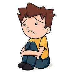 Image result for clipart image of sad boy