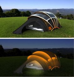 Solar-powered Tent Lets You Light Up Your Night ... see more at InventorSpot.com