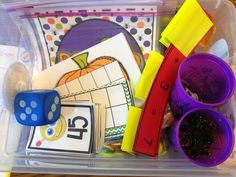 Guided Math in First Grade- a break down of each station with lots of pictures!