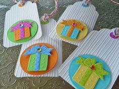 Happy Birthday tags set of 4 Birthday present by chucklesandcharms, $4.75