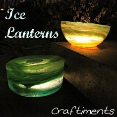 Craftiments:  Ice Lanterns  Cool idea (no pun intended) if you live someplace cold.  (Probably not a good thing here in Florida)
