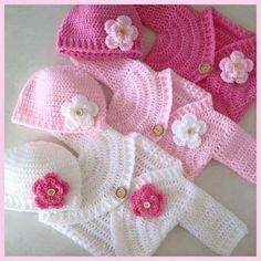 , Simple Baby Bolero Cardigan - Free Pattern and Video Tutorial. , Simple Baby Bolero Cardigan – Free Pattern and Video Tutorials Crochet Bebe, Baby Girl Crochet, Baby Blanket Crochet, Crochet For Kids, Crochet Winter, Crochet Blankets, Crochet Baby Sweaters, Crochet Baby Clothes, Knitted Baby