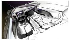 Cadillac Urban Luxury Concept Interior Design Sketch.
