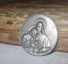 Vintage Jesus Embossed Religious Plaque Gothic Altered by Tesorus
