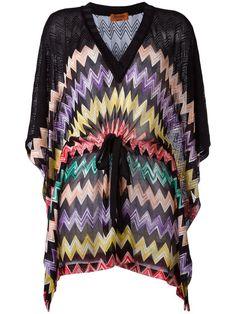 MISSONI Drawstring Zigzag Blouse. #missoni #cloth #blouse
