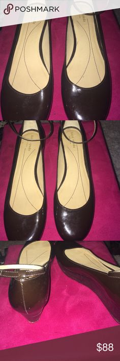 Cute and classic Kate spade wedges heels Great pre-owned condition size 8.5 dark brown color kate spade Shoes Wedges