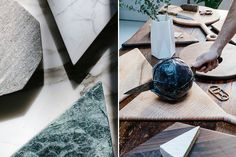 marble, walnut and brass by Fort Standard