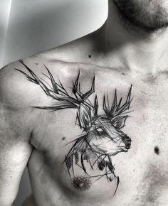 Inez Janiak stag tattoo