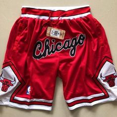 Just Don Chicago Bulls Basketball Shorts Nba Basketball Shorts, Lakers Shorts, Chicago Bulls Basketball, Sport Shorts, Athletic Shorts, Gym Shorts Womens, Chicago Bulls Outfit, College Basketball, Red Shorts