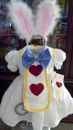 Alice White Rabbit inspired Dress WITH by Heartfeltcostumes