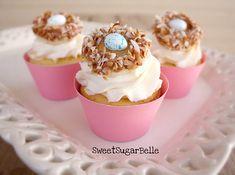 Bird nest cupcake toppers