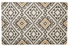 Oaken Flat-Weave Rug, Charcoal | One Kings Lane