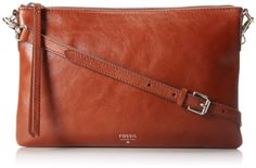 Fossil Sydney Top Zip Cross Body Bag,Brown