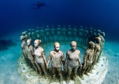 Have you ever seen more than 400 life-like sculptures on the ocean floor? Now you have this chance! They are installed off the cost of Lanzarote, which is situated on the Canary Islands in Spain. It is called the Museo Atlantico and is the the first museum under the water in the Atlantic Ocean. If y…