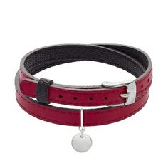 Leather bracelet with silver medal - 43£ #leather #bracelet #lilou #medal #silver #lessthan45 #christmas #present