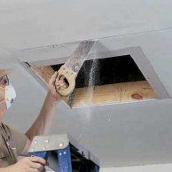 Cut out attic access opening                                                                                                                                                                                 More