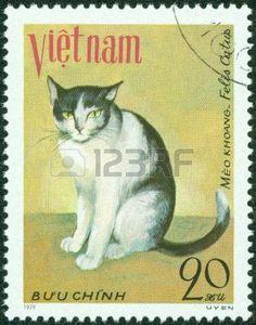 VIETNAM - CIRCA 1979  chat domestique Meo Khoang